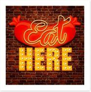 Vintage cafe sign Art Print 60824117
