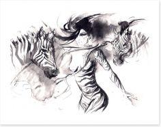 The zebra dance Art Print 60848904