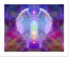 Reiki wings and chakras Art Print 61024376
