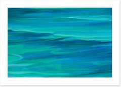 Turquoise sea Art Print 61169092