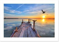 Sunrise at the lake of dreams Art Print 61415588