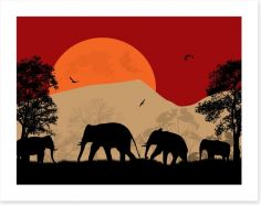 Savanna sunset Art Print 61762750