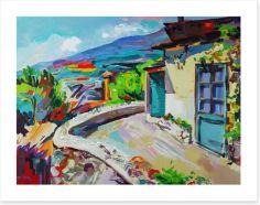 Summer in the village Art Print 61960649