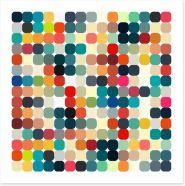 Retro dots Art Print 62132082