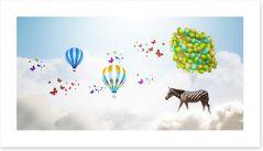 Zebra and balloons