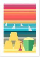 Beach House Art Print 62432342