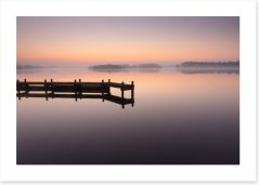 Tranquil dawn jetty