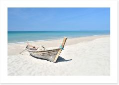 Longtail boat on the beach Art Print 62876585