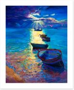 Moonlight boats Art Print 62963289