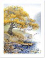 Old tree by the river Art Print 62982833