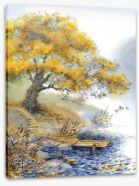 Old tree by the river Stretched Canvas 62982833