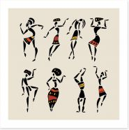 Tribal festival of dance Art Print 63146248