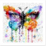Geometric butterfly Art Print 63233751