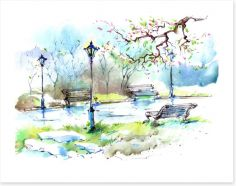 Spring in the park Art Print 63336807