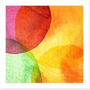 Watercolour circles Art Print 63503405
