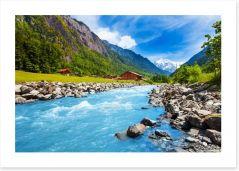 Swiss mountain stream Art Print 63529854