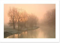 Foggy morning on the Thames, Oxford