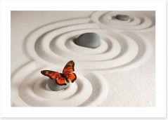 Zen stones with butterfly Art Print 63675122