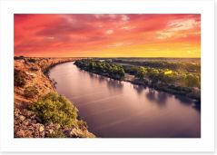 Murray river sunset Art Print 63871228