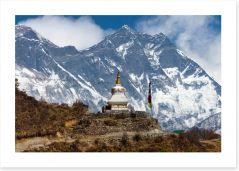 Stupa near Everest Base Camp Art Print 63938338