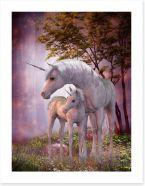 Unicorn foal and mum