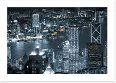 Hong Kong by night Art Print 65463400