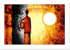 African Art Art Print 66803932