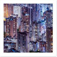 Hong Kong city Art Print 66995958