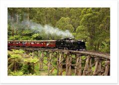 Puffing Billy steam train Art Print 68566415