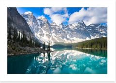 Moraine Lake in the Rocky Mountains, Canada