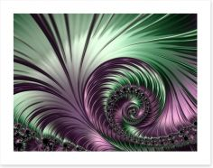 Shimmer and swirl Art Print 68826538