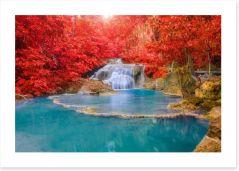 Autumn at Erawan waterfall