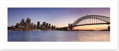 Sydney CBD panoramic at dusk Art Print 69805273