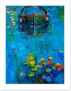 The boat and the lillies Art Print 70502861