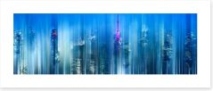 City lights Art Print 70582097