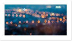Blurring lights bokeh Art Print 70794726