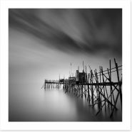 Old pier silhouette