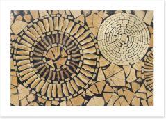 Timber delight Art Print 72462689