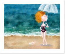Raindrops on the beach