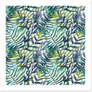Entwining fronds Art Print 74294405