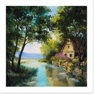 The river house Art Print 74295048