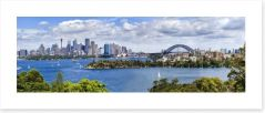 Sydney harbour panorama Art Print 74471213