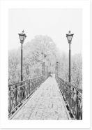 Lovers Bridge in winter
