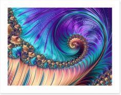 Flourish and flow Art Print 74679582