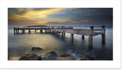 Daybreak at the old pier Art Print 75214812