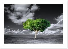 The green tree Art Print 75661317