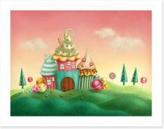 Candyland castle Art Print 76244202