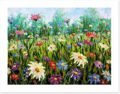 Spring wildflower meadow Art Print 76354753