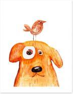 Dog and bird