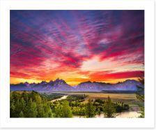 Sunset over Snake River Art Print 77233931